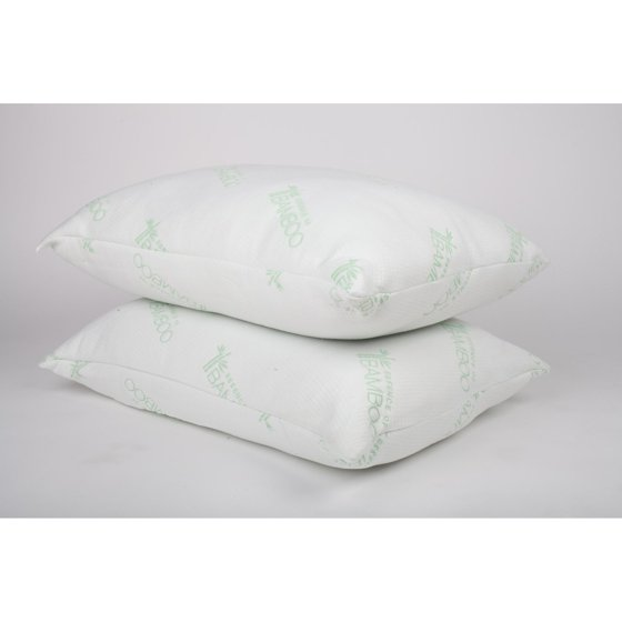 Essence Of Bamboo Knit Bed Pillow Set Of 2 Walmart Com