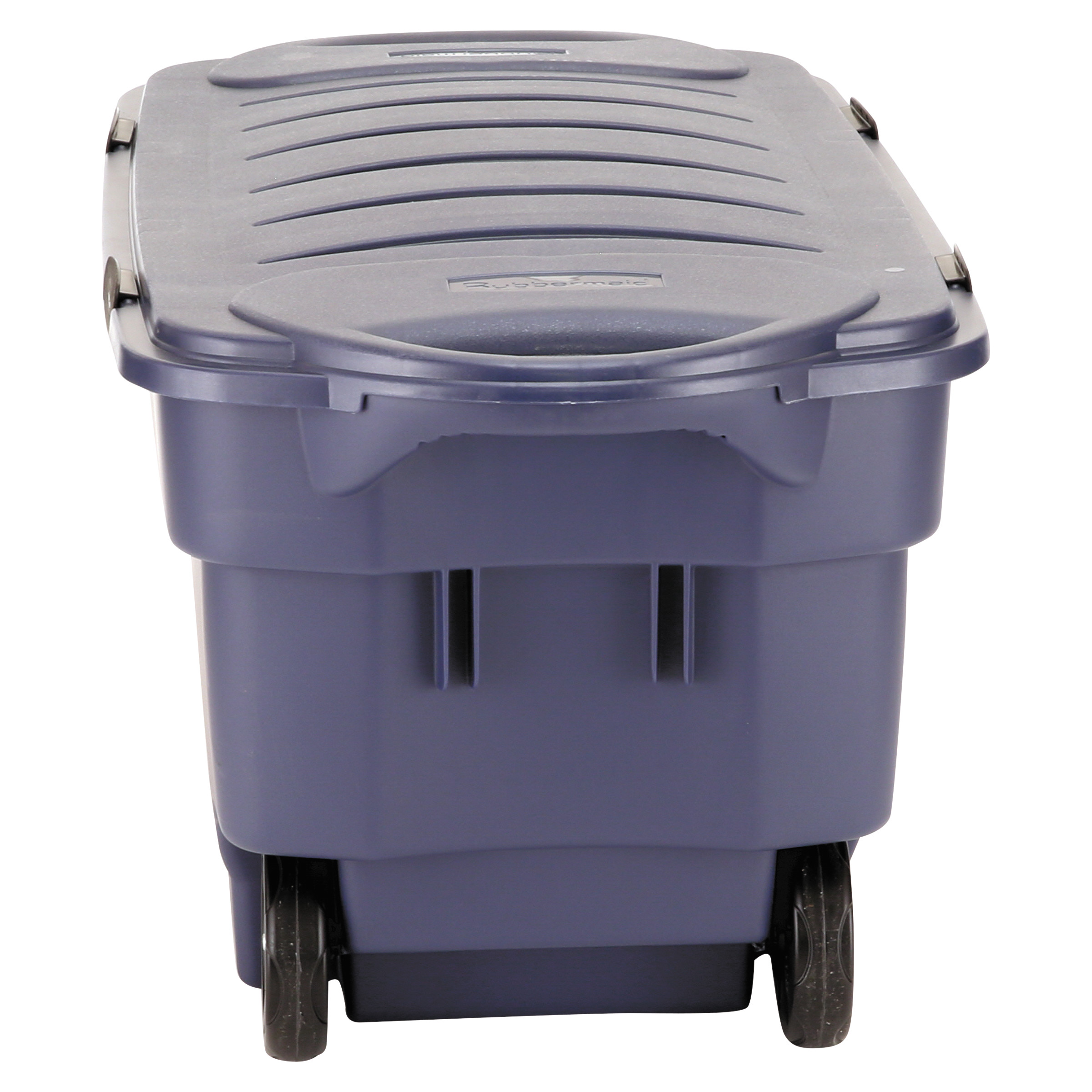 Beau Rubbermaid Roughneck Wheeled Storage Box, 45gal, Dark Indigo Metallic    Walmart.com