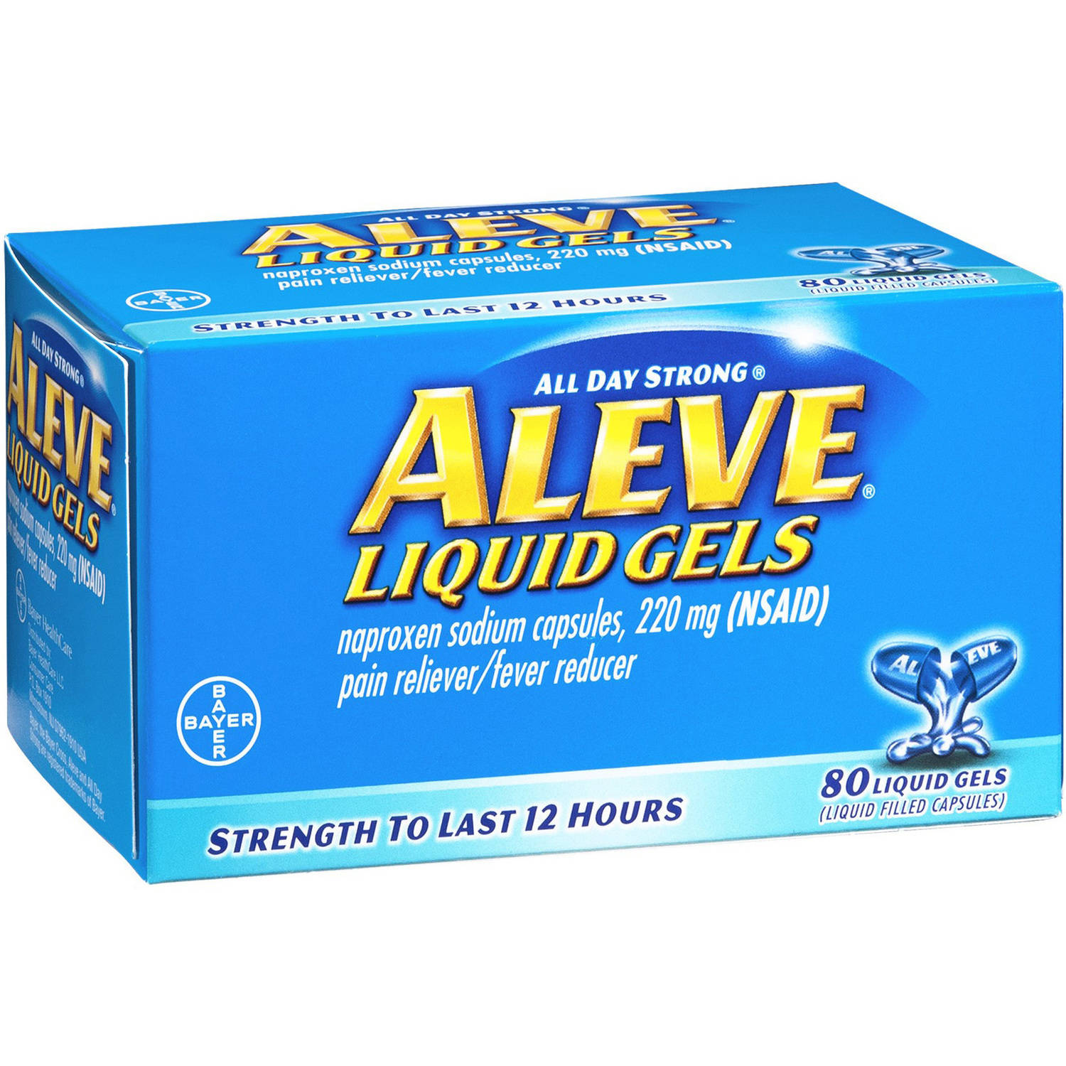 Aleve Liquid Gels, 80 CT (Pack of 3)