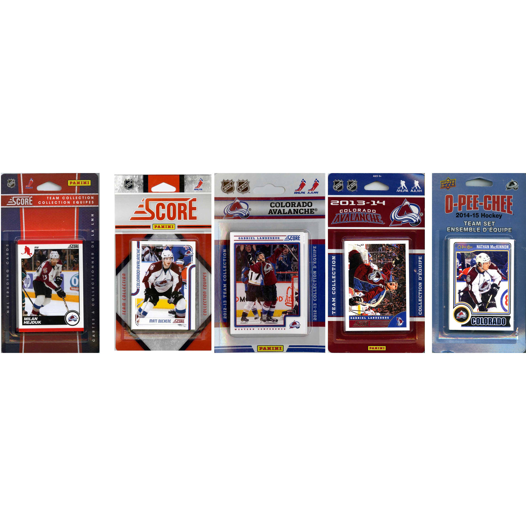 C&I Collectables NHL Colorado Avalanche 5 Different Licensed Trading Card Team Sets