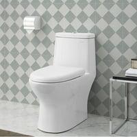 Swiss Madison Ivy® One Piece Elongated Toilet Dual Tornado Flush 1.28 gpf