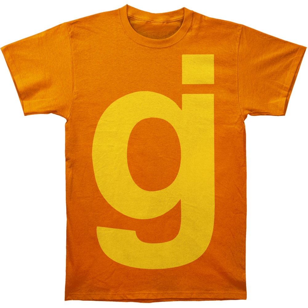 Glassjaw Men's  Yellow On Orange T-shirt Orange