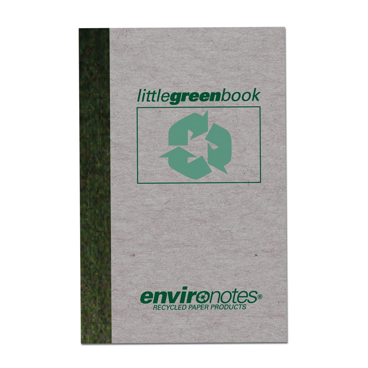 """LITTLE GREEN BOOK 6""""x4"""" NARROW RULED"""