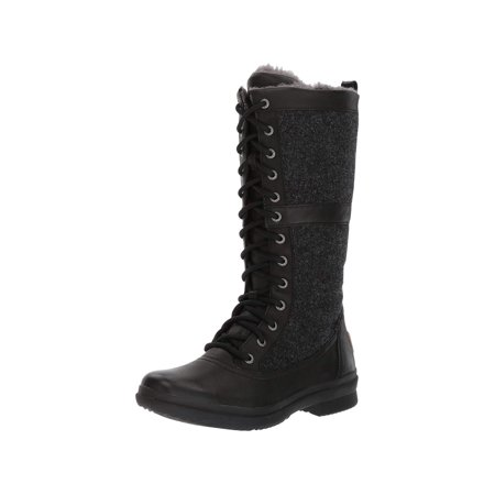 Ugg Australia Womens Elvia Leather Round Toe Mid-Calf Cold Weather Boots ()