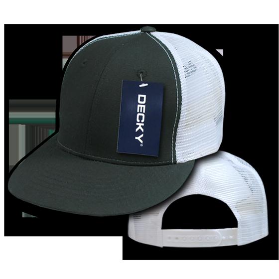 Decky Trucker Hats: DECKY FLAT BILL SNAPBACK TRUCKER HATS HAT CAPS CAP