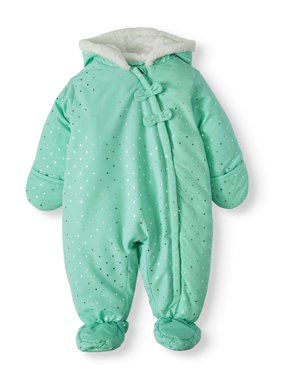 Child of Mine by Carter's Baby Girl Puffer Snowsuit Pram