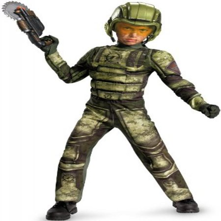Operation Rapid Strike Red Sector Foot Soldier Classic Muscle Boys Costume, - Operation Halloween
