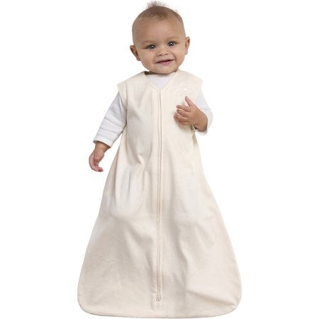HALO SleepSack Wearable Blanket, 100% Organic Cotton, Cream, Small