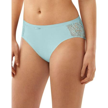 Bali Womens Lace Desire Cotton Hi-Cut Brief, DFCD62, 8