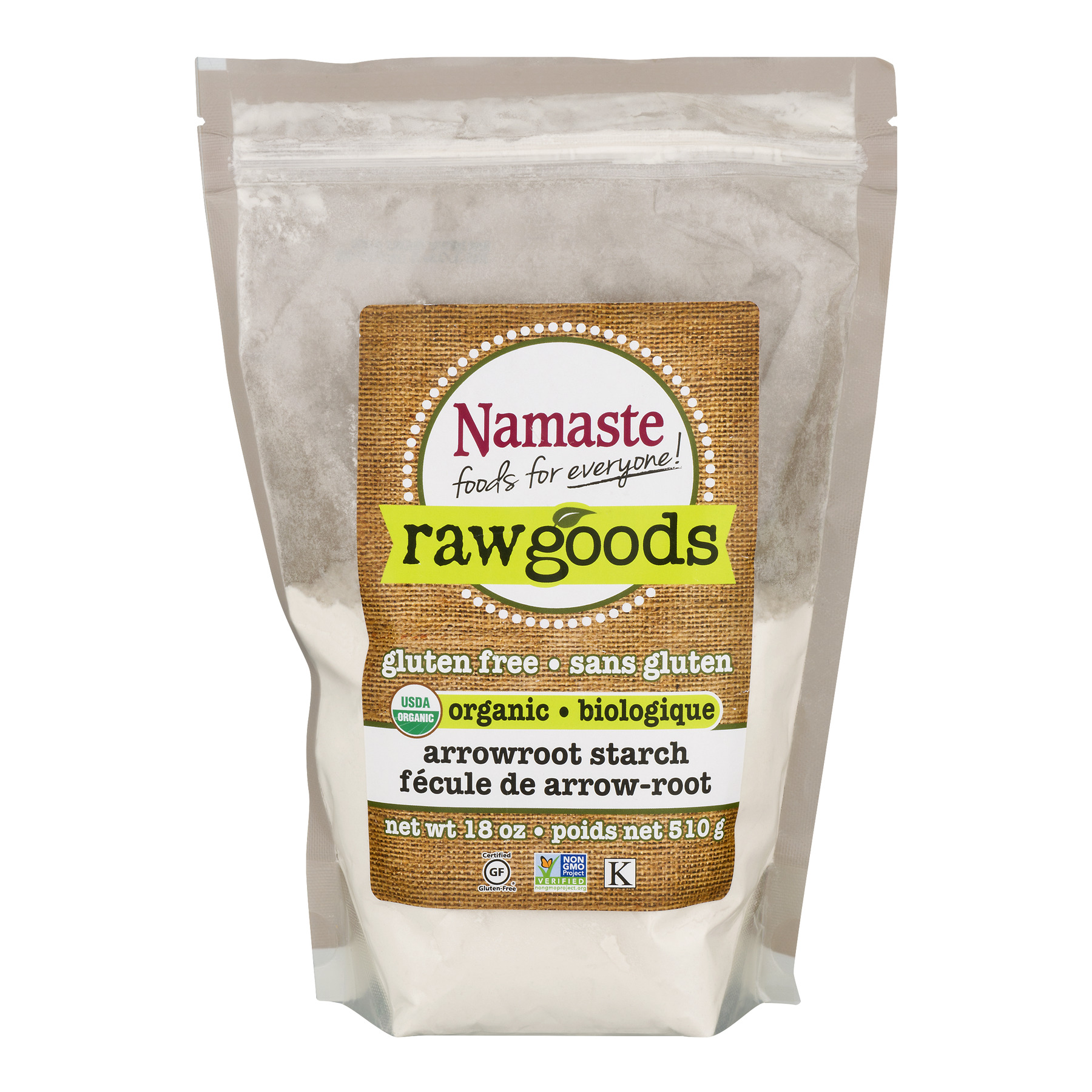Namaste Foods Raw Goods Gluten Free Organic Arrowroot Starch, 18 oz