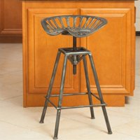 "Noble House 26"" Lawrence Bar Stool in Brushed Silver"
