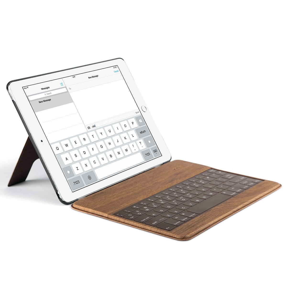 iPad Air 2 Bluetooth Keyboard Case, ULAK  Ultra-Slim Wood Pattern Stand Smart Cover with Built-in Wireless Bluetooth Keyboard Cases for Apple iPad Air 2 9.7 inch (2014)  Auto Sleep / Wake Feature