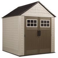 Rubbermaid 1887155 7' x 7' Outdoor Resin Storage Shed
