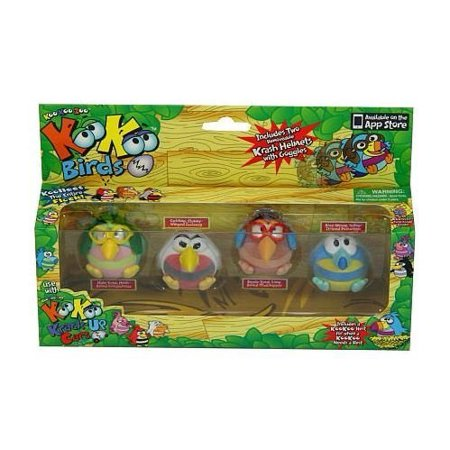 Koo Koo Birds 4 Pack Lollapalooza, Scalawag, Mudskipper, and Dooselfink