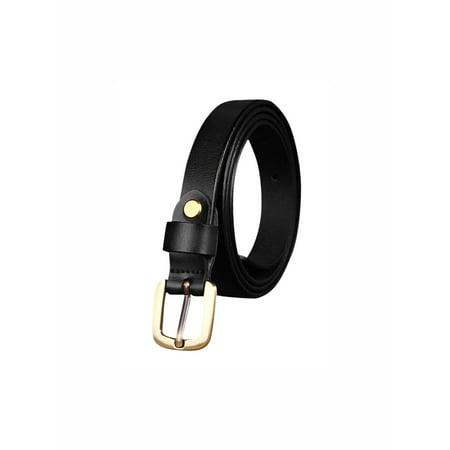 unique bargains women's adjustable single pin buckle skinny leather waist belt 1