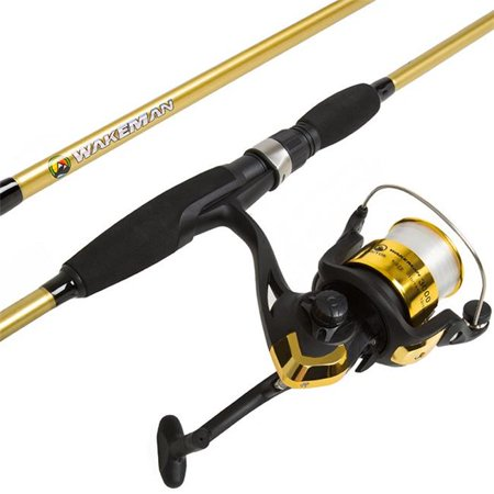 Wakeman M500012 Strike Series Spinning Pole, Gear for Bass & Trout Fishing Rod & Reel Combo,
