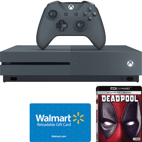 Bundle & Save: Xbox One S Console, $40 Walmart Gift Card & Your Choice of 4k UltraHD Movie