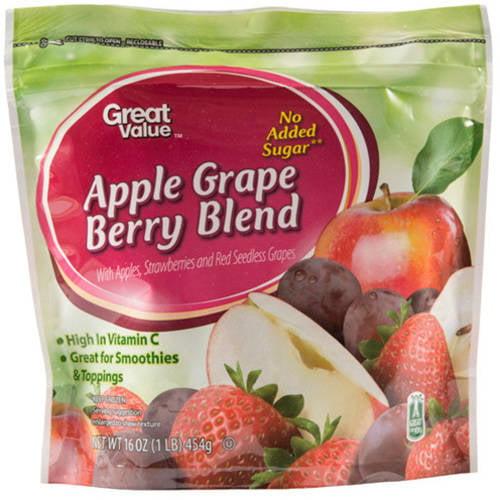 Great Value Apple Grape Berry Frozen Blend, 16 oz