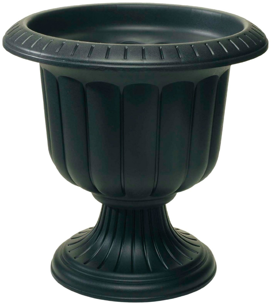 """Novelty 38148 Classic Durable Urn with 2-Piece Construction, 14"""", Black"""