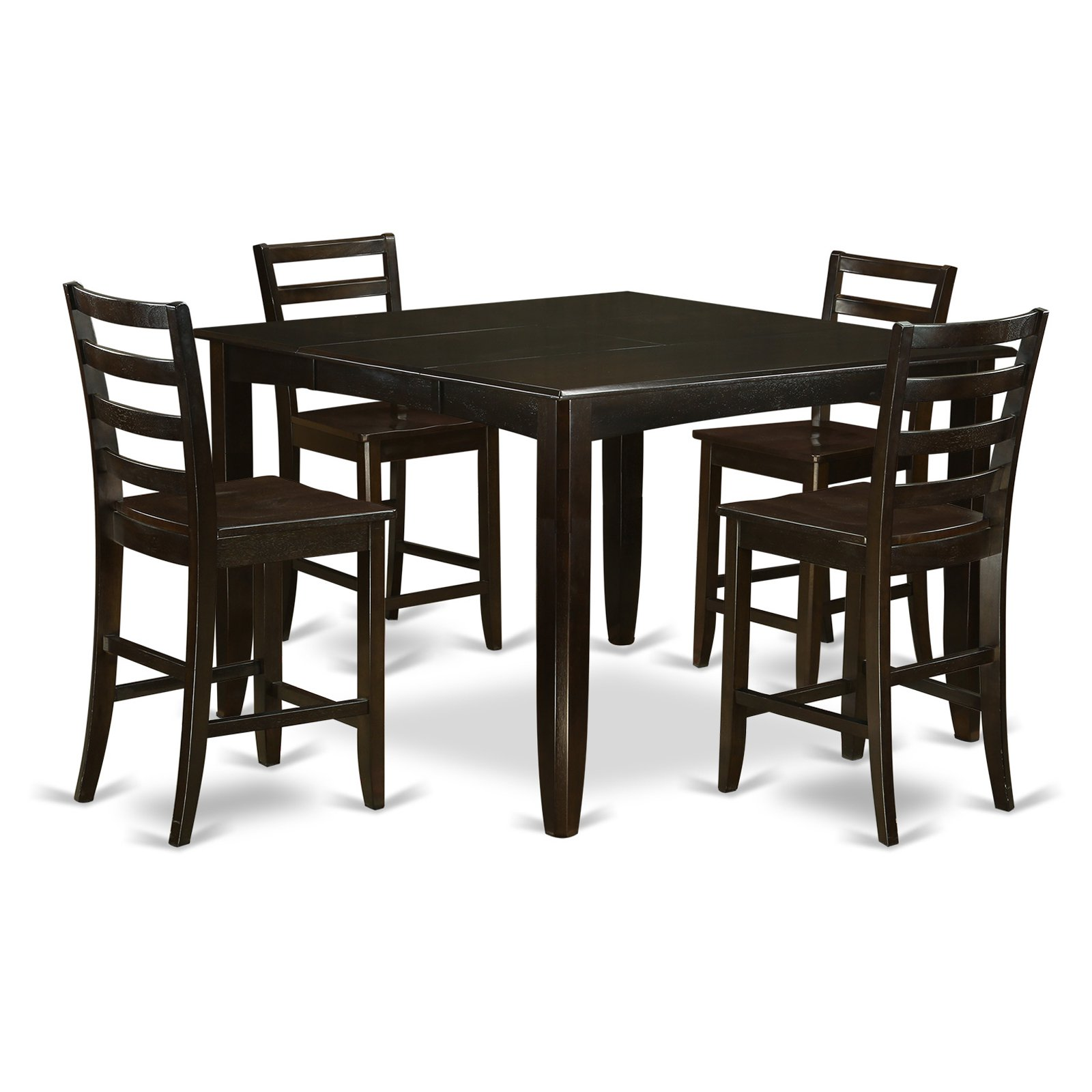 East West Furniture Fairwinds 5 Piece Ladder Back Dining Table Set