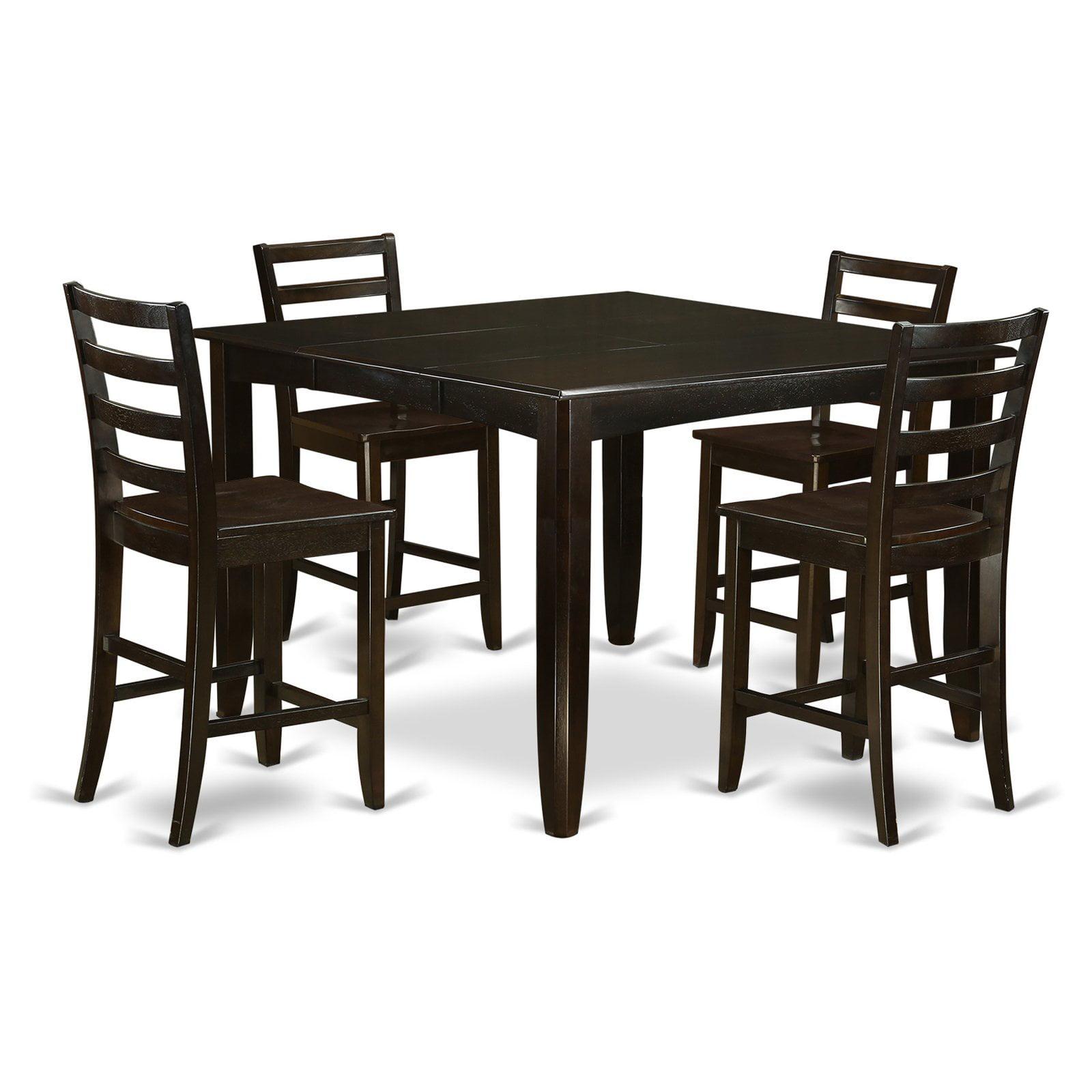 East West Furniture Fairwinds 5 Piece Ladder Back Dining Table Set