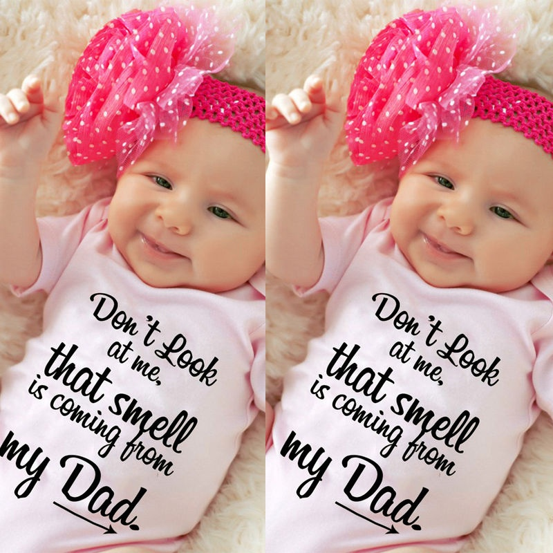 Newborn Infant Baby Girls Clothes Funny Romper Bodysuit Jumpsuit Outfits Sunsuit