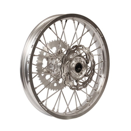 - Warp 9 Complete Wheel Kit - Rear 18 x 2.15 Silver Rim/Silver Hub/Silver Spokes and Nipples for KTM 450 EXC-R 2008-2011