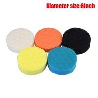 【LNCDIS】5Pcs Car Polishing Sponge Waxing Buffing Pads Compound Auto Polisher 5 Colors