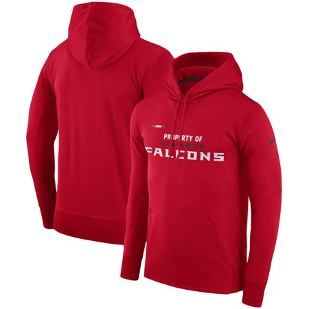 check out 8be71 35df5 Atlanta Falcons Nike Sideline Property Of Performance Pullover Hoodie - Red  - Walmart.com