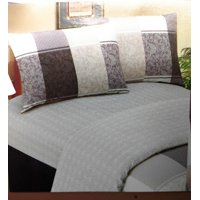 DaDa Bedding Jacquard Grey Floral Paisley Fitted & Flat Sheets w/ Pillow Cases Set - Full - 4-Pieces