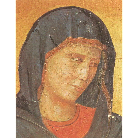 Framed Art for Your Wall Giotto di Bondone - Crucifix, detail Marie head 10 x 13 Frame