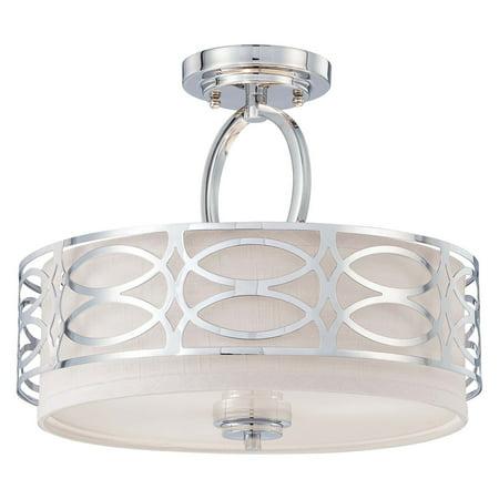 Nuvo Lighting 60 4629 Ceiling Fixtures Harlow Indoor Semi Flush Polished Nickel