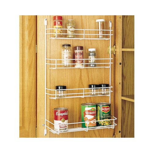 Rev-A-Shelf 565-14-52 Door Mount Wire Spice Rack White 13-5/8-inch Wide