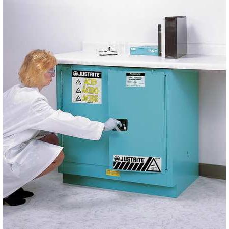 JUSTRITE 892302 Corrosive Safety Cabinet, Blue, Standard