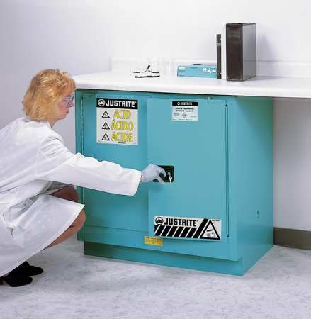 Corrosive Safety Cabinet, Blue, Standard JUSTRITE 892302