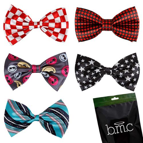 Bundle Monster Stylish 5in1 Adjustable Boys Bow Tie Tuxedo Collection - Set 3