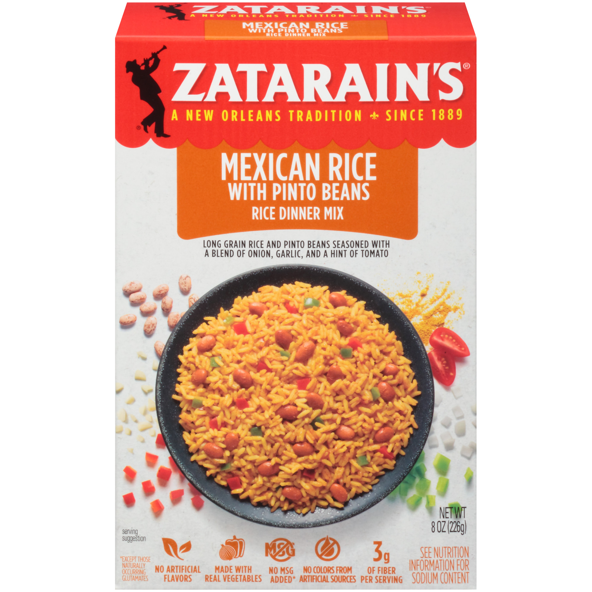 Zatarain's Mexican Rice with Whole Pinto Beans Rice Dinner Mix, 8 oz