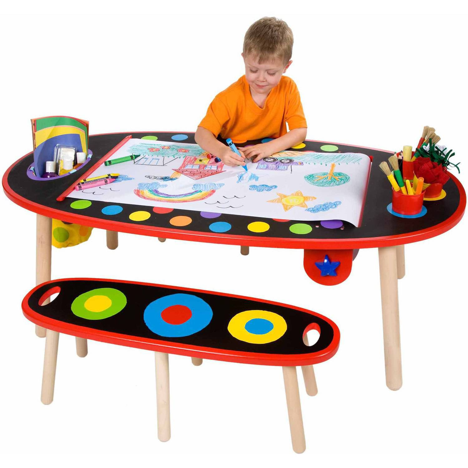 Alex Toys 711W Super Art Table with Paper Roll