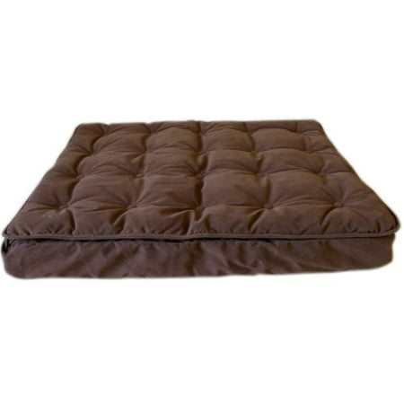 Carolina Pet Company Luxury Pillow Top Mattress Pet Bed in Chocolate