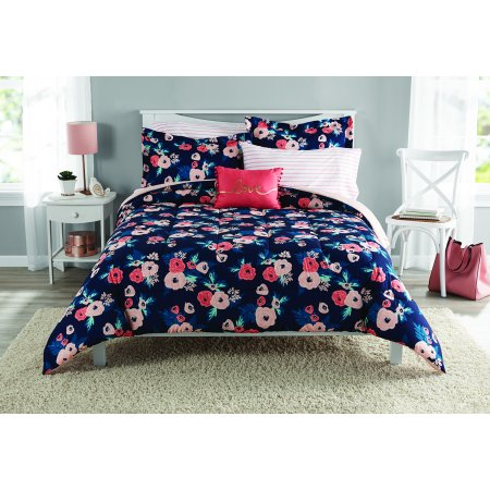 Mainstays Garden Floral Bed in a Bag Bedding, Twin/Twin XL