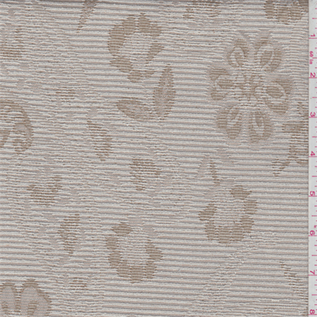 Blush Beige Floral Tapestry, Fabric Sold By the Yard (Floral Tapestry Fabric)