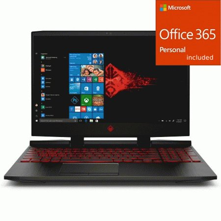 "HP OMEN 15"" Gaming Laptop Intel Core i7 8GB RAM 256GB SSD Bl + Office 365 Bundle"