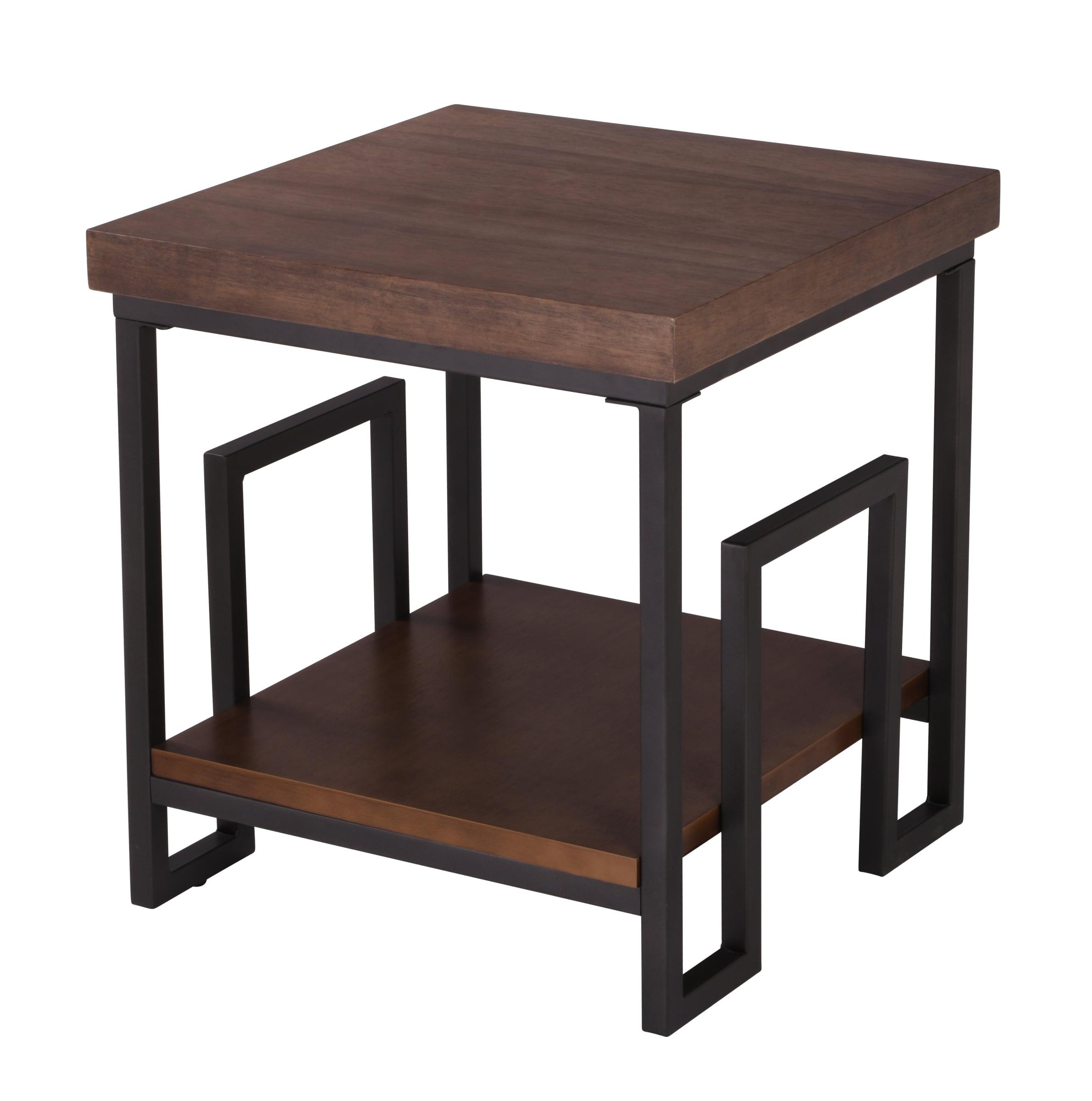 Better Homes & Gardens Elliot Square Side Table, Natural Wooden Finish