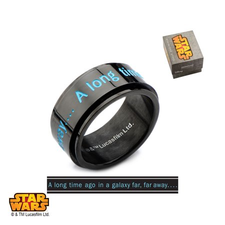 Star Spinner Ring (Stainless Steel I.P. Black Star Wars