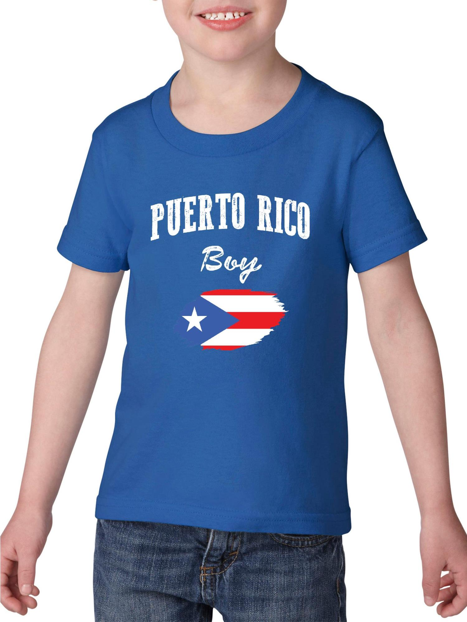 Puerto Rico Strong Support Puerto Rico Kids Boys Girls O-Neck Long Sleeve Shirt Tee for Toddlers