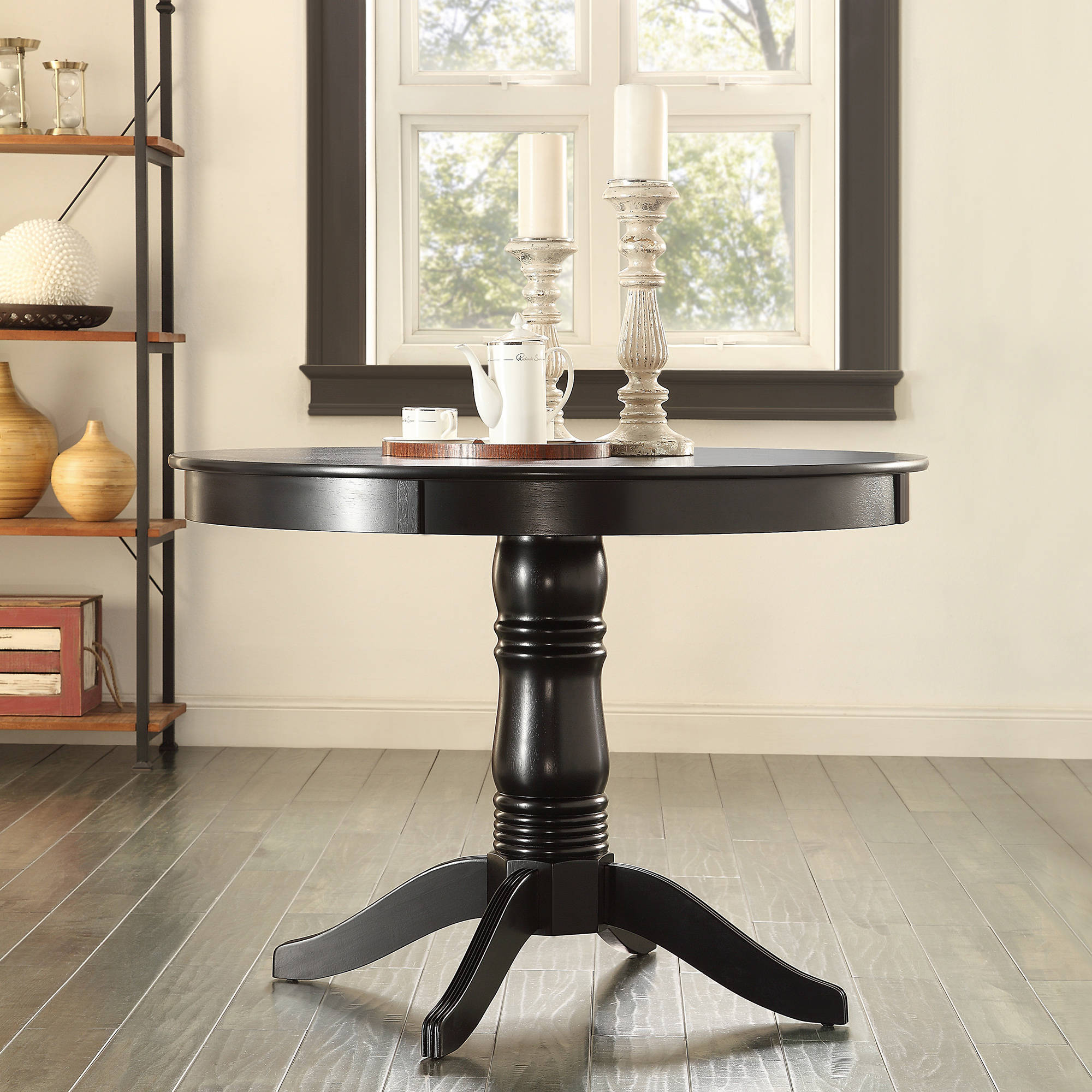 Lexington Round Dining Table, Black by Top-Line