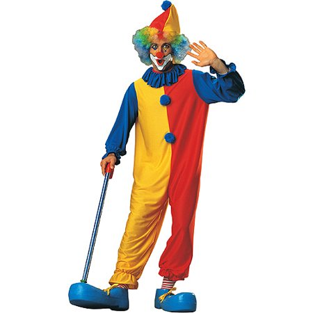Classic Clown - Adult Costume](Freaky Clown Makeup)