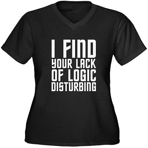 CafePress Women's Plus-Size Logic Graphic T-shirt