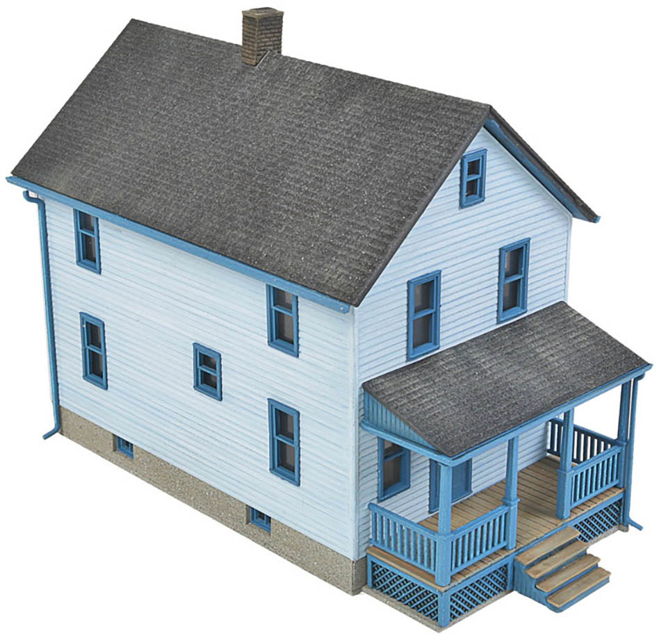 Walthers Cornerstone HO Scale Building/Structure Kit Two-Story Frame House