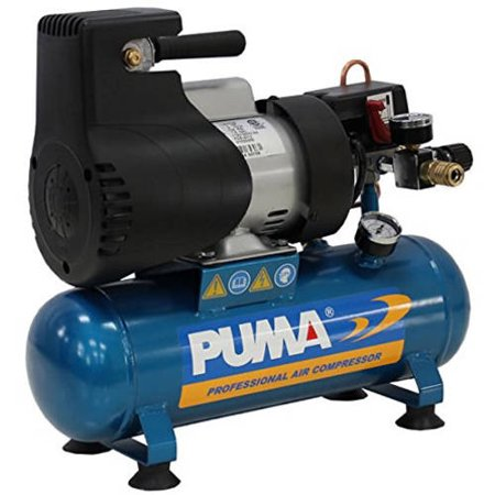 Puma Industries Air Compressor  La5706  Single Stage Oil Less Direct Drive Series  1 0 Hp Running  135 Max Psi  115 1 Voltage Phase  1 5 Gallons  33 Lbs